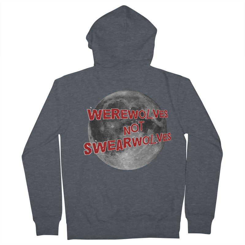 Werewolves not Swearwolves Men's French Terry Zip-Up Hoody by Loganferret's Artist Shop