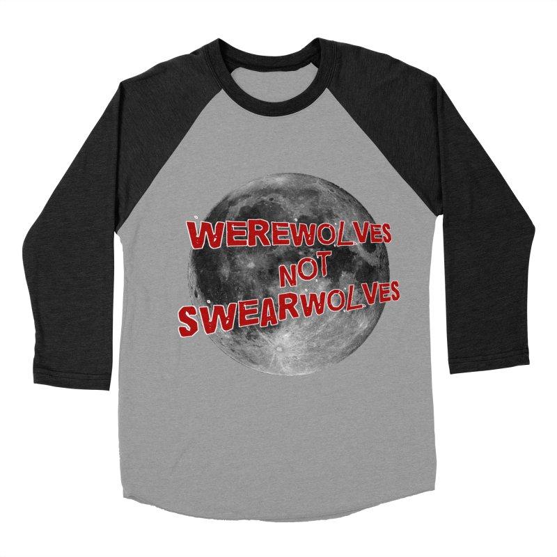 Werewolves not Swearwolves Men's Baseball Triblend T-Shirt by Loganferret's Artist Shop