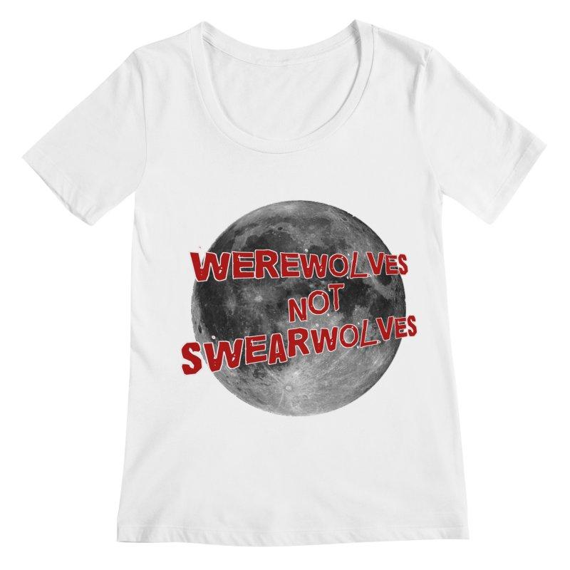 Werewolves not Swearwolves Women's Scoopneck by Loganferret's Artist Shop