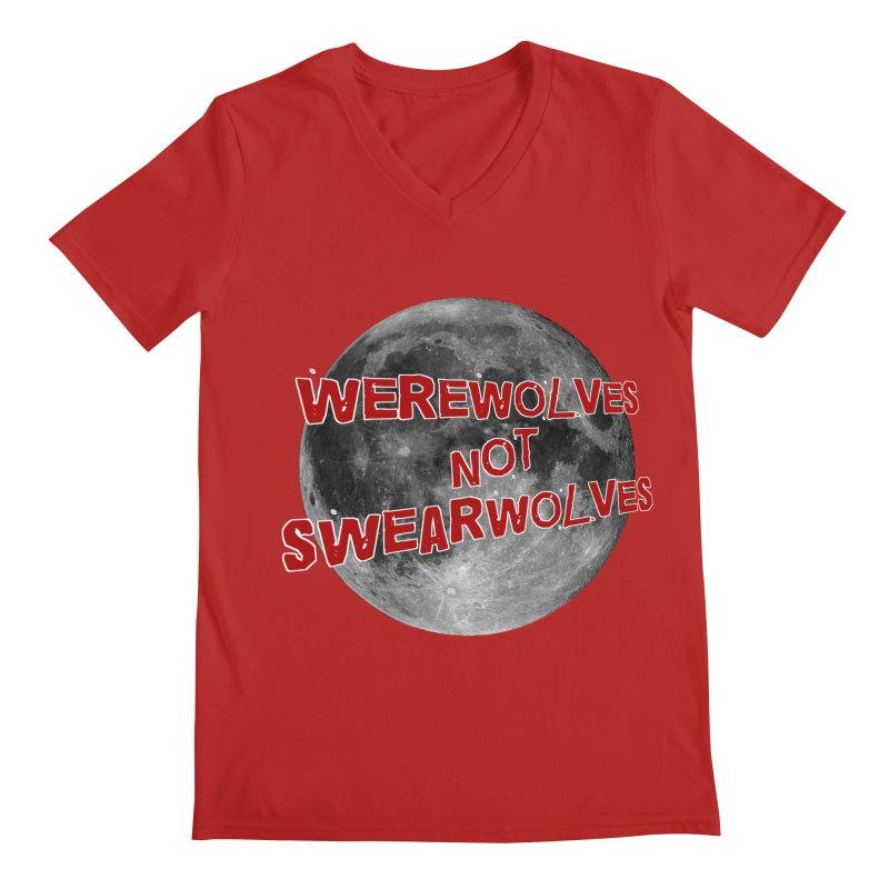 Werewolves not Swearwolves Men's V-Neck by Loganferret's Artist Shop