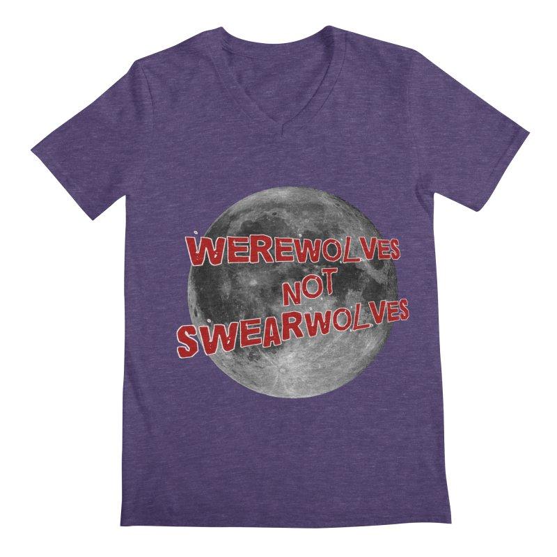 Werewolves not Swearwolves Men's Regular V-Neck by Loganferret's Artist Shop