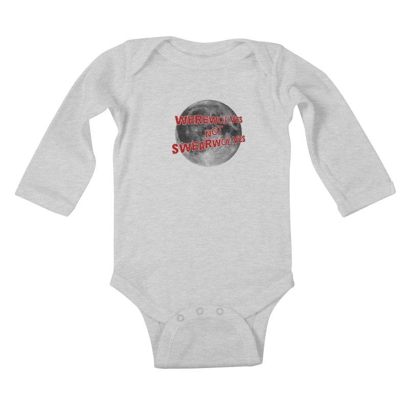 Werewolves not Swearwolves Kids Baby Longsleeve Bodysuit by Loganferret's Artist Shop