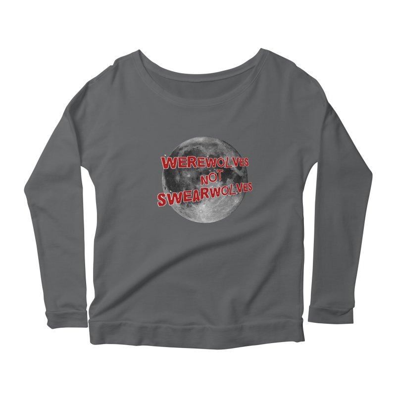 Werewolves not Swearwolves Women's Scoop Neck Longsleeve T-Shirt by Loganferret's Artist Shop