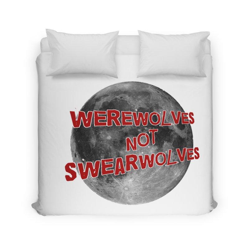 Werewolves not Swearwolves Home Duvet by Loganferret's Artist Shop