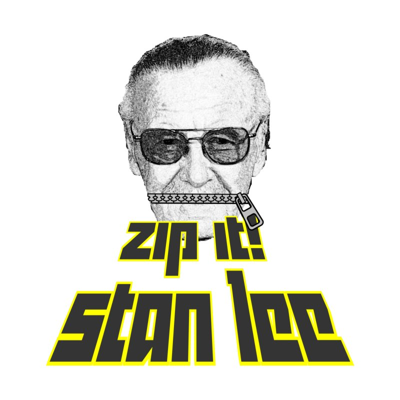Zip it Stan Lee Kids Longsleeve T-Shirt by Loganferret's Artist Shop