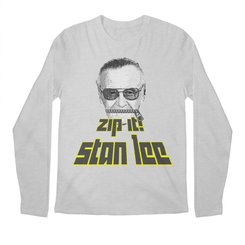 Zip it Stan Lee Men's Regular Longsleeve T-Shirt by Loganferret's Artist Shop