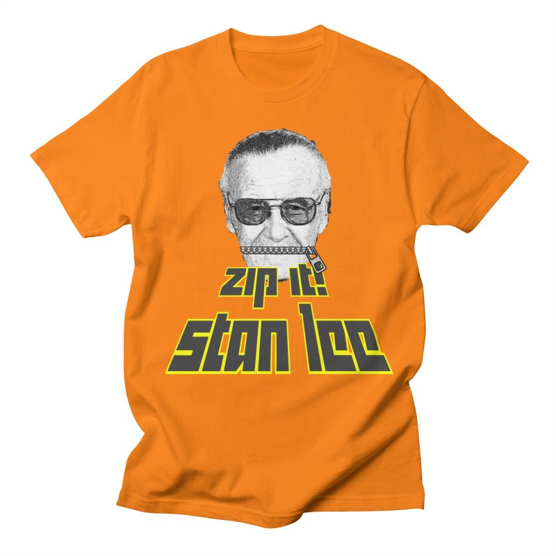 Zip it Stan Lee Men's T-Shirt by Loganferret's Artist Shop