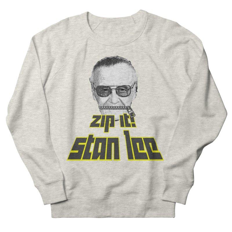 Zip it Stan Lee Men's French Terry Sweatshirt by Loganferret's Artist Shop