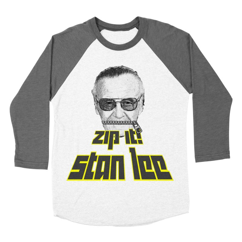 Zip it Stan Lee Men's Baseball Triblend T-Shirt by Loganferret's Artist Shop