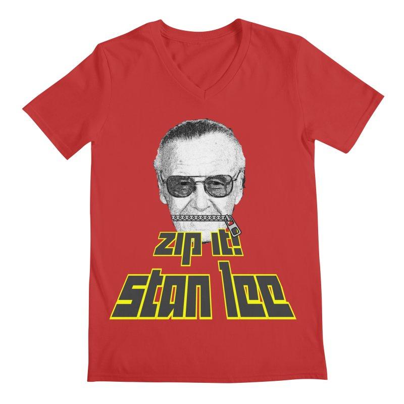 Zip it Stan Lee Men's Regular V-Neck by Loganferret's Artist Shop