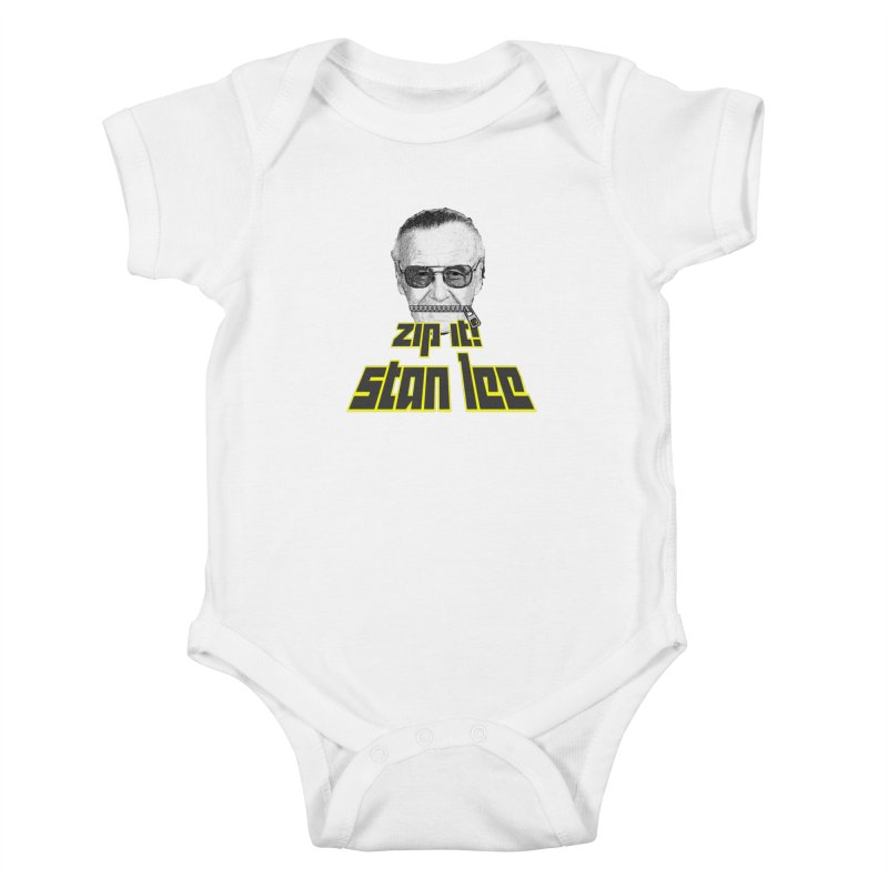Zip it Stan Lee Kids Baby Bodysuit by Loganferret's Artist Shop
