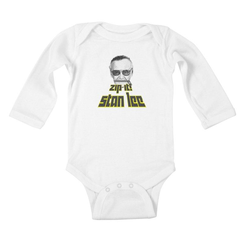 Zip it Stan Lee Kids Baby Longsleeve Bodysuit by Loganferret's Artist Shop