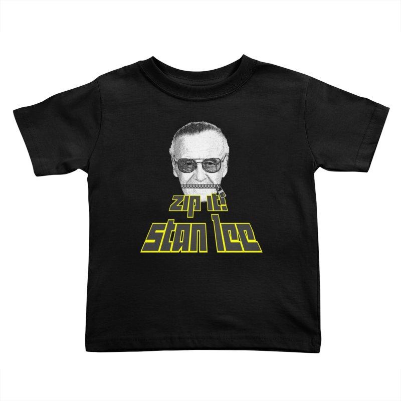 Zip it Stan Lee Kids Toddler T-Shirt by Loganferret's Artist Shop