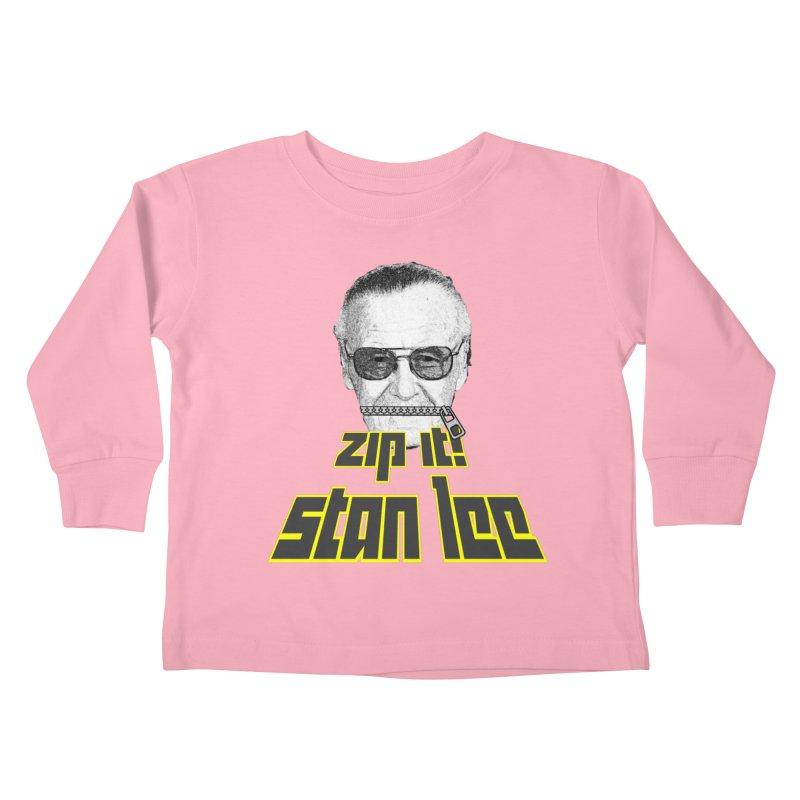 Zip it Stan Lee Kids Toddler Longsleeve T-Shirt by Loganferret's Artist Shop