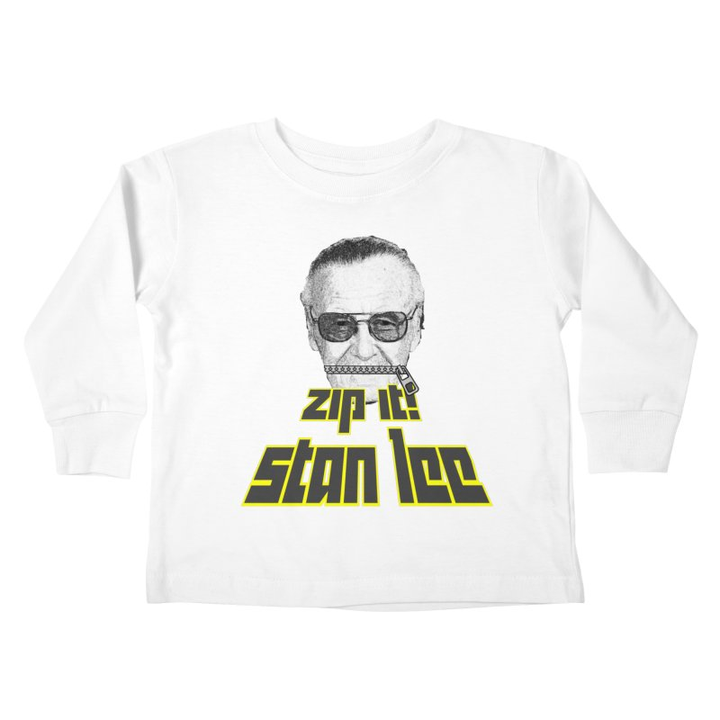 Zip it Stan Lee Kids Toddler Longsleeve T-Shirt by Loganferret's Artist Shop