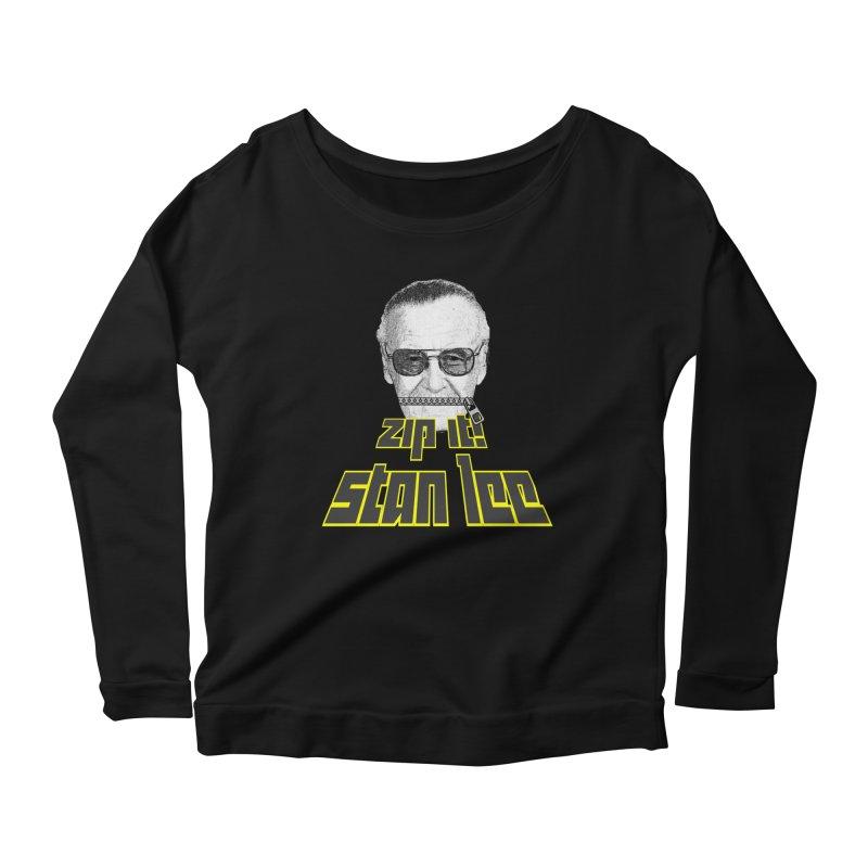 Zip it Stan Lee Women's Scoop Neck Longsleeve T-Shirt by Loganferret's Artist Shop
