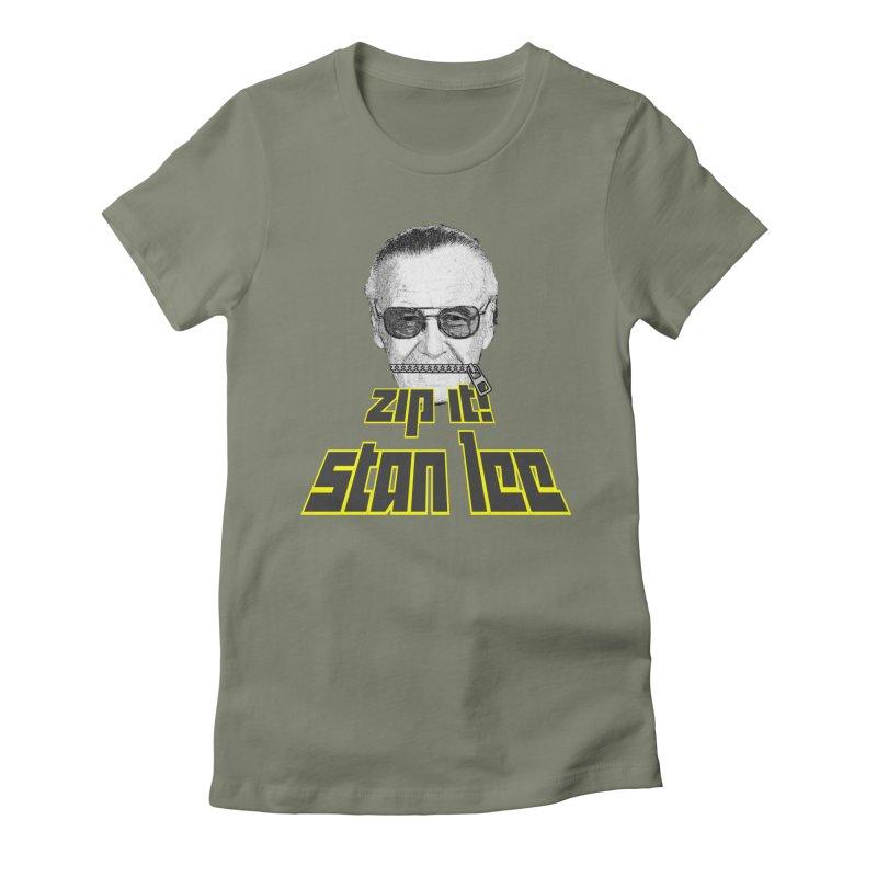 Zip it Stan Lee Women's Fitted T-Shirt by Loganferret's Artist Shop