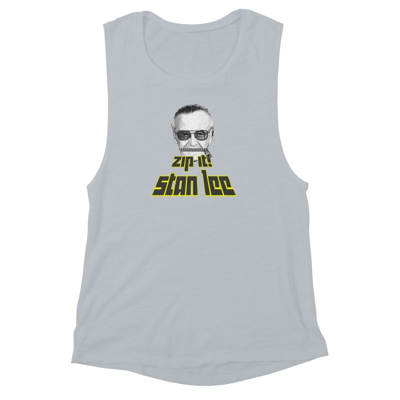 Zip it Stan Lee Women's Muscle Tank by Loganferret's Artist Shop