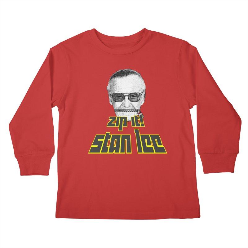 Zip it Stan Lee Kids Longsleeve T-Shirt by Loganferret's Artist Shop