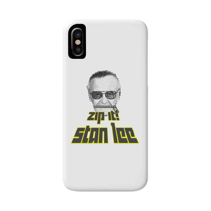 Zip it Stan Lee Accessories Phone Case by Loganferret's Artist Shop