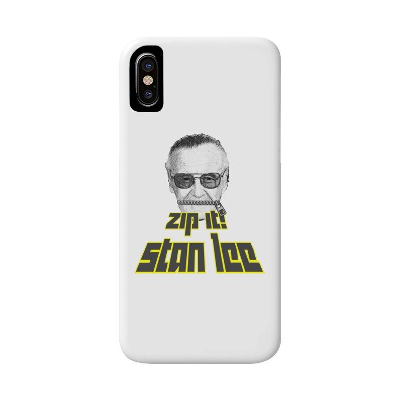 Zip it Stan Lee Accessories Phone Case by Loganferret's Artist Shop