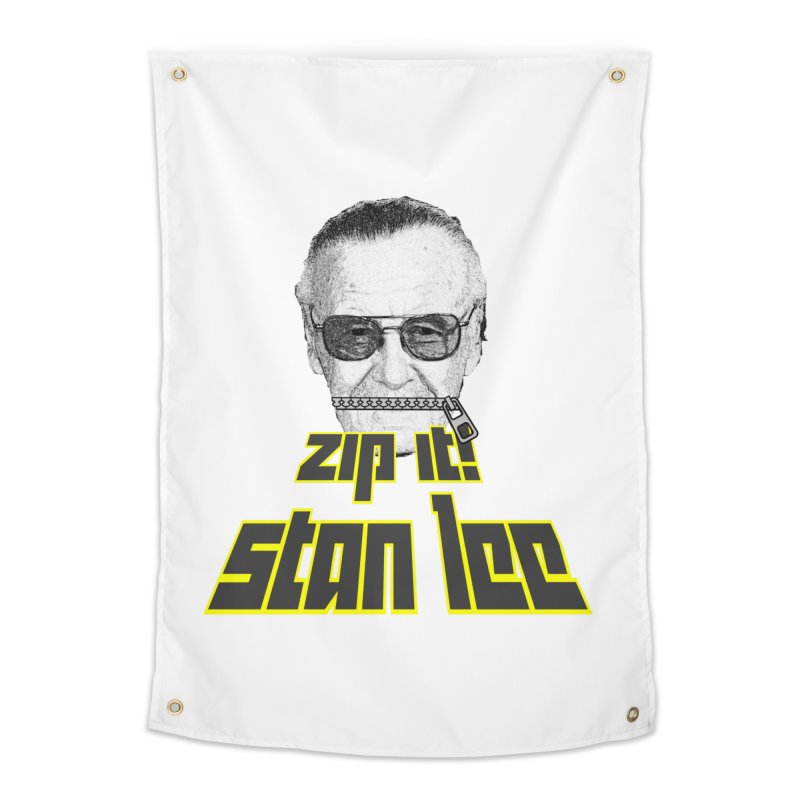 Zip it Stan Lee Home Tapestry by Loganferret's Artist Shop