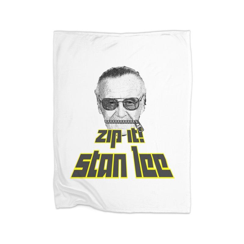 Zip it Stan Lee Home Blanket by Loganferret's Artist Shop