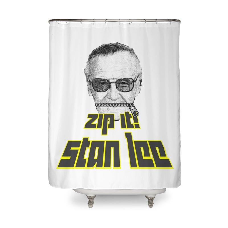 Zip it Stan Lee Home Shower Curtain by Loganferret's Artist Shop