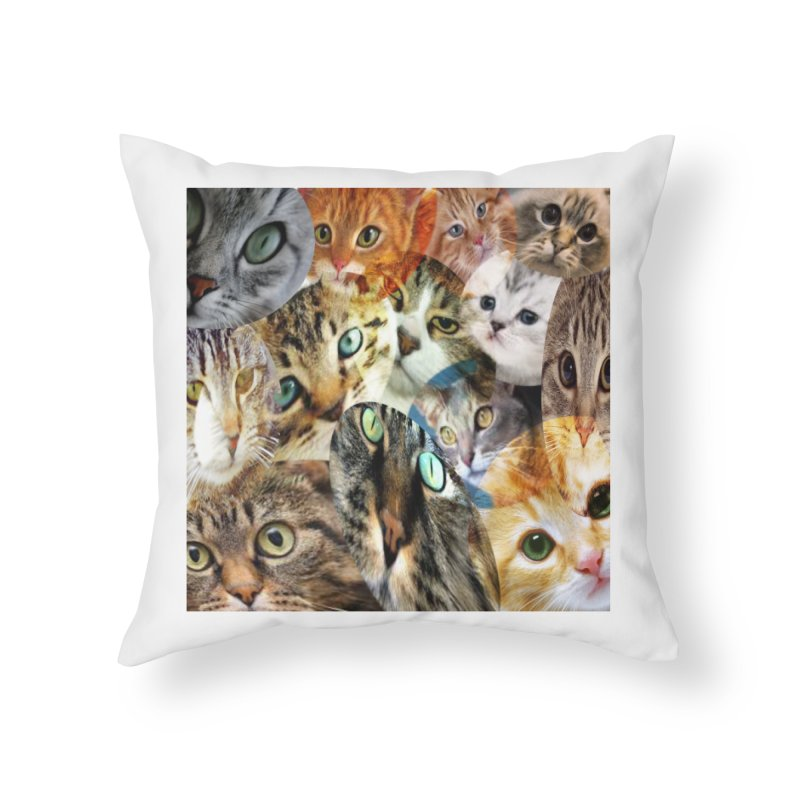 For the Love of Cats Home Throw Pillow by Loganferret's Artist Shop