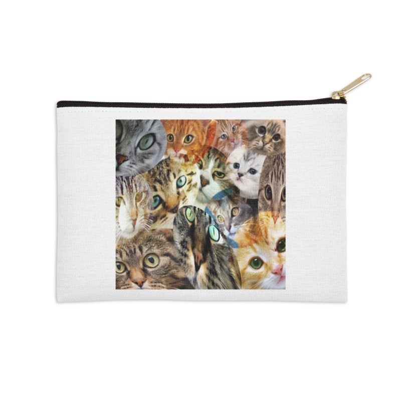 For the Love of Cats Accessories Zip Pouch by Loganferret's Artist Shop