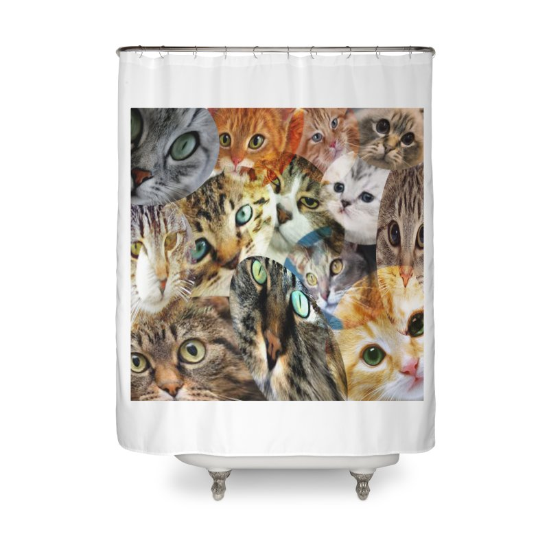For the Love of Cats Home Shower Curtain by Loganferret's Artist Shop