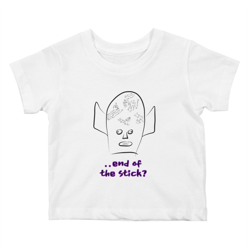 What's on the end of the stick Vic? Kids Baby T-Shirt by Loganferret's Artist Shop