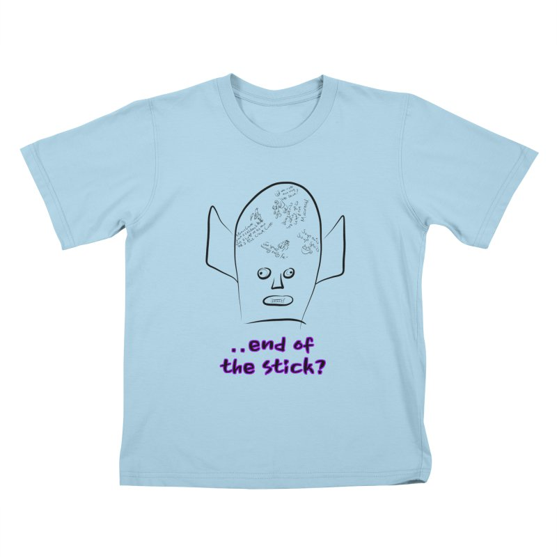 What's on the end of the stick Vic? Kids T-Shirt by Loganferret's Artist Shop