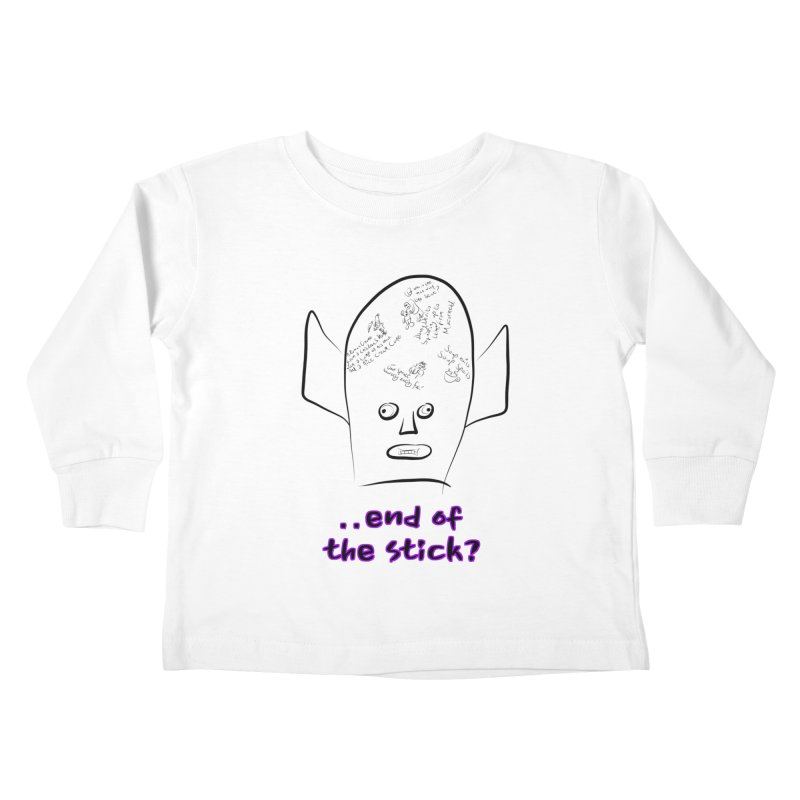 What's on the end of the stick Vic? Kids Toddler Longsleeve T-Shirt by Loganferret's Artist Shop