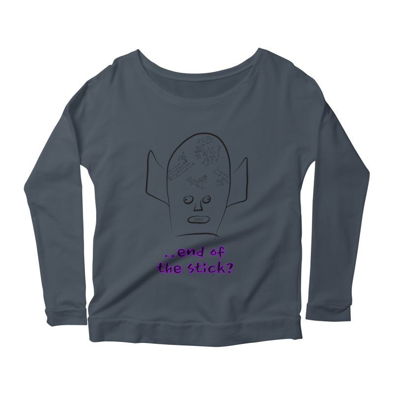 What's on the end of the stick Vic? Women's Longsleeve Scoopneck  by Loganferret's Artist Shop
