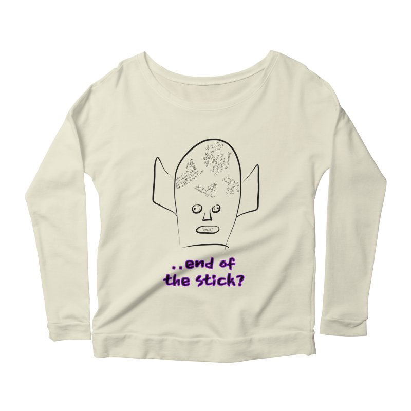 What's on the end of the stick Vic? Women's Scoop Neck Longsleeve T-Shirt by Loganferret's Artist Shop