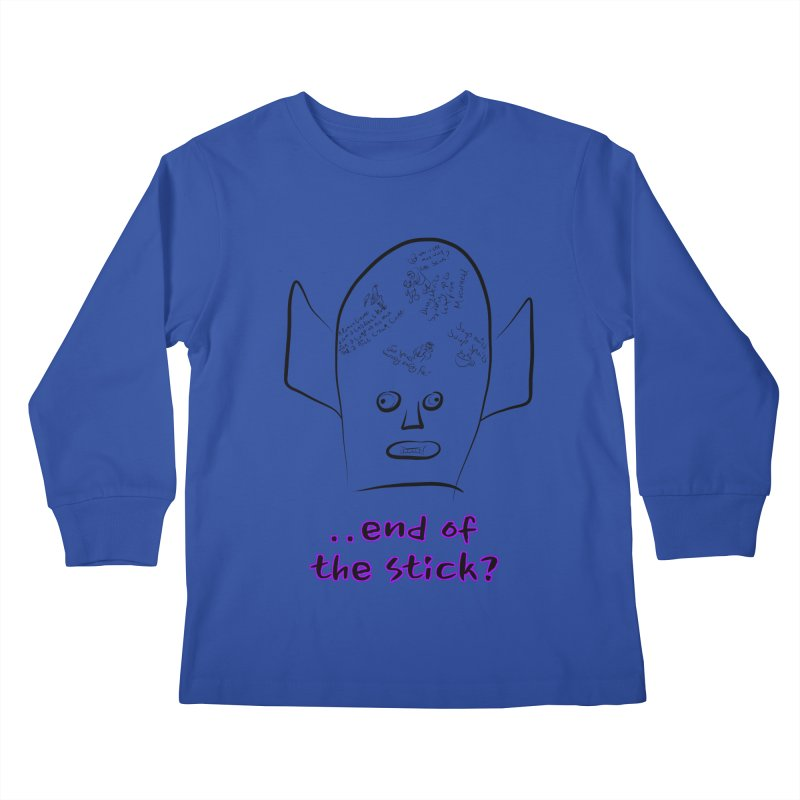 What's on the end of the stick Vic? Kids Longsleeve T-Shirt by Loganferret's Artist Shop