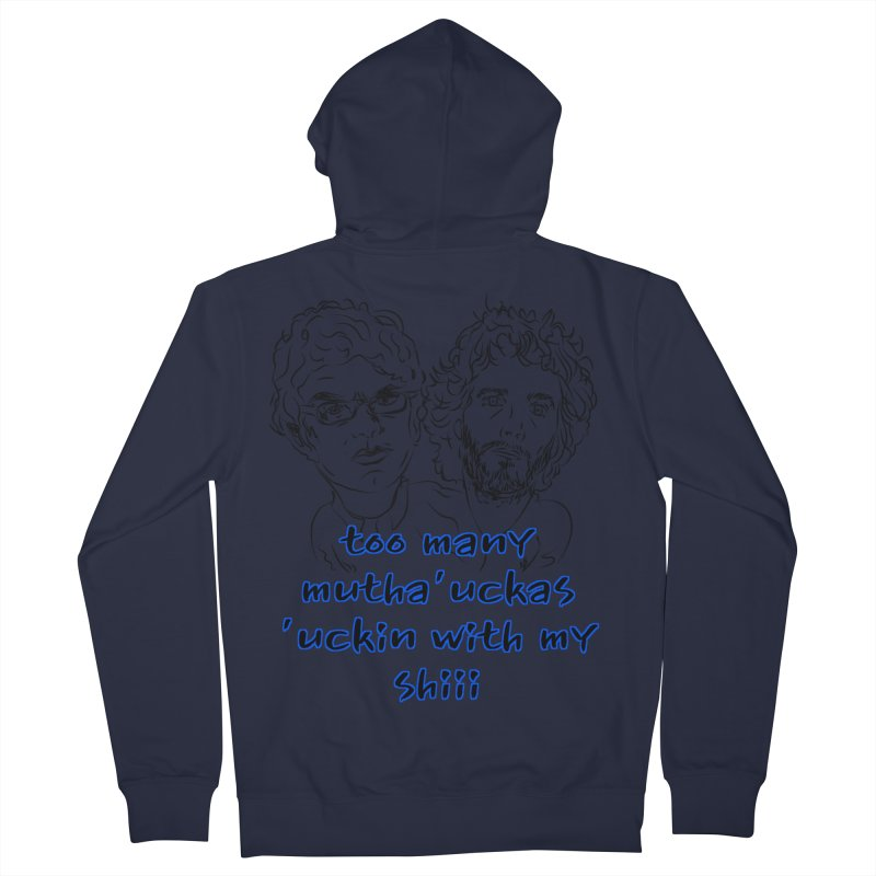 Mutha Ucka's Flight of the Conchords Men's Zip-Up Hoody by Loganferret's Artist Shop