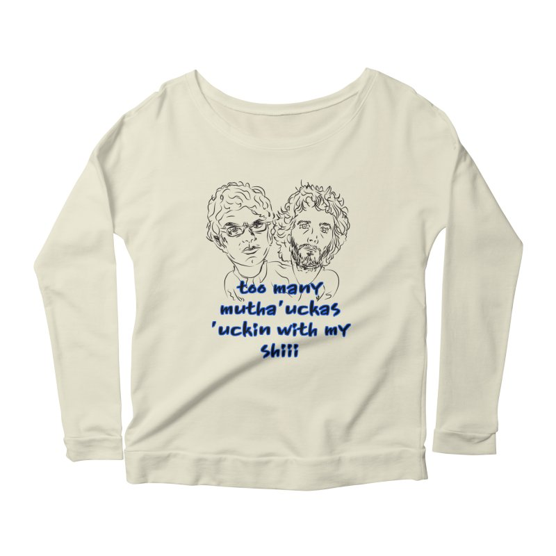 Mutha Ucka's Flight of the Conchords Women's Scoop Neck Longsleeve T-Shirt by Loganferret's Artist Shop