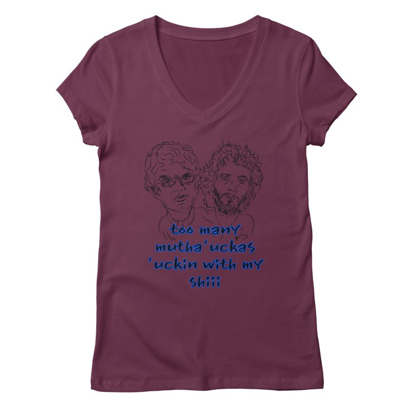 Mutha Ucka's Flight of the Conchords Women's V-Neck by Loganferret's Artist Shop