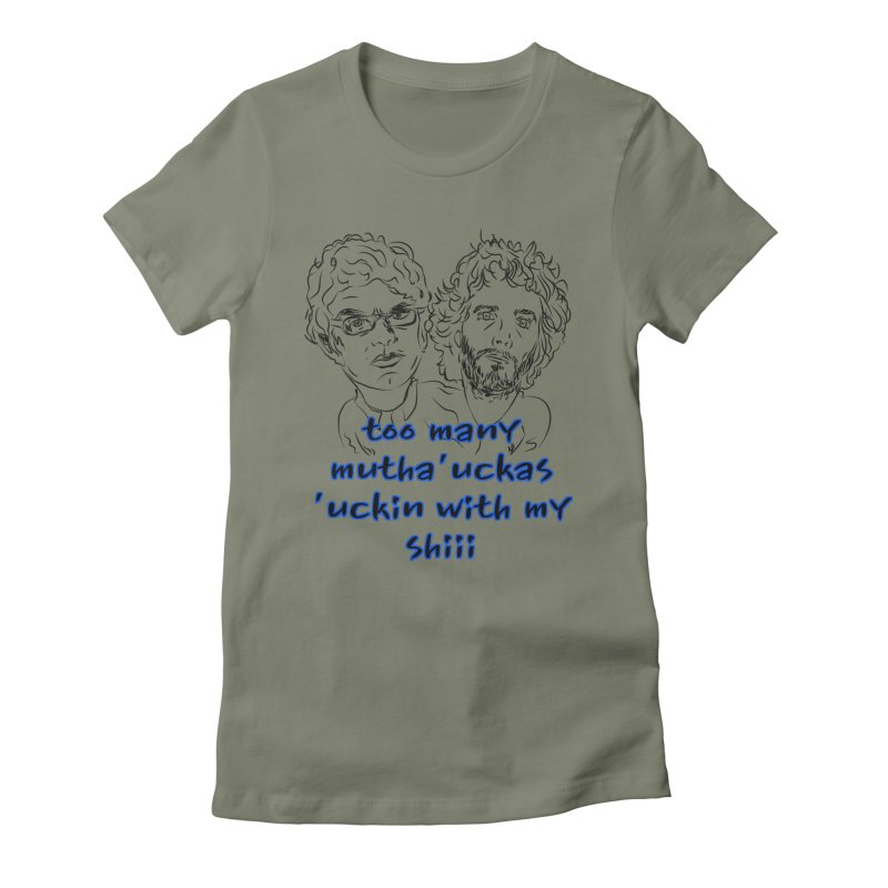 Mutha Ucka's Flight of the Conchords Women's Fitted T-Shirt by Loganferret's Artist Shop