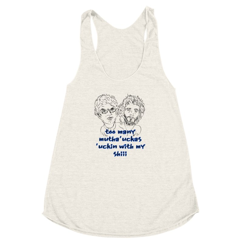 Mutha Ucka's Flight of the Conchords Women's Racerback Triblend Tank by Loganferret's Artist Shop