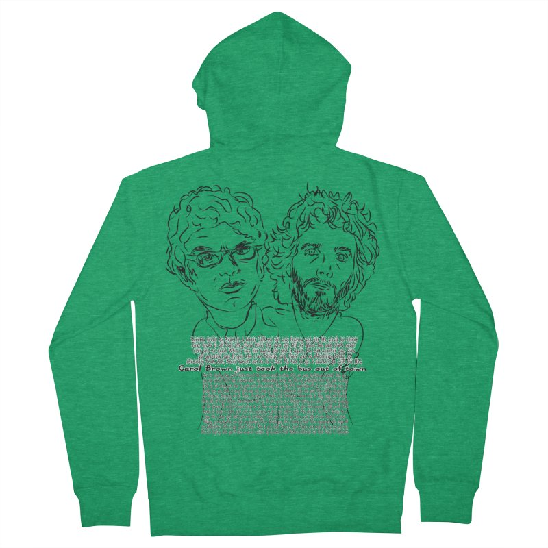 Carol Brown Lyrics, Flight of the conchords Women's French Terry Zip-Up Hoody by Loganferret's Artist Shop