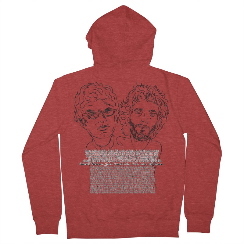 Carol Brown Lyrics, Flight of the conchords Men's French Terry Zip-Up Hoody by Loganferret's Artist Shop