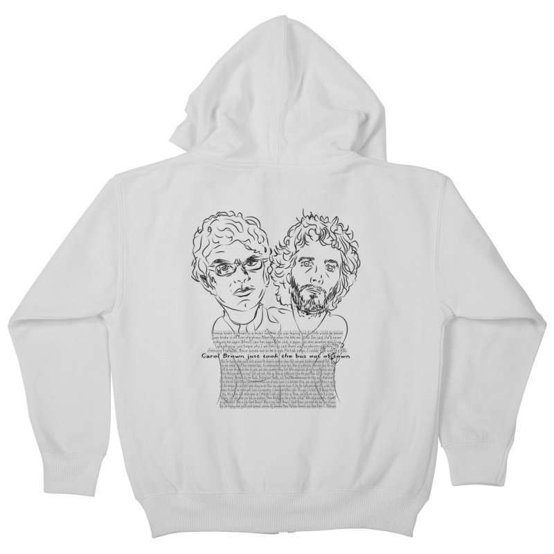 Carol Brown Lyrics, Flight of the conchords Kids Zip-Up Hoody by Loganferret's Artist Shop