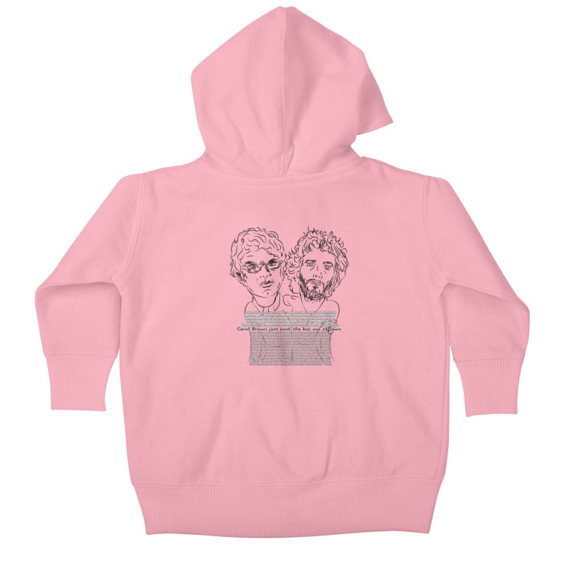 Carol Brown Lyrics, Flight of the conchords Kids Baby Zip-Up Hoody by Loganferret's Artist Shop