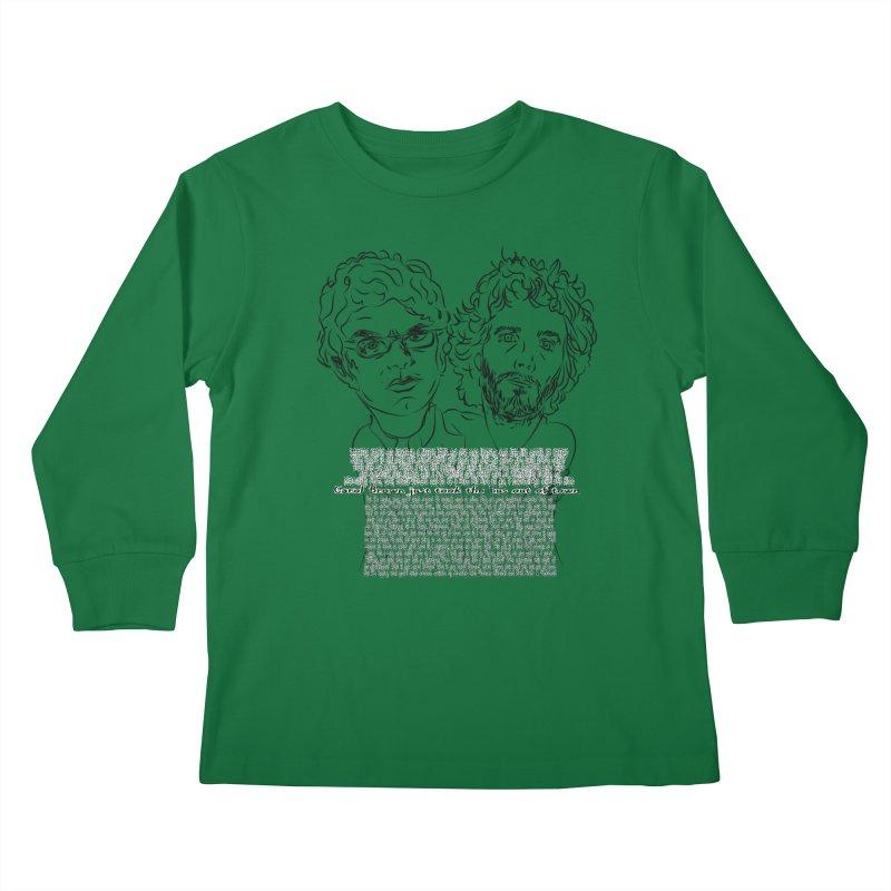 Carol Brown Lyrics, Flight of the conchords Kids Longsleeve T-Shirt by Loganferret's Artist Shop