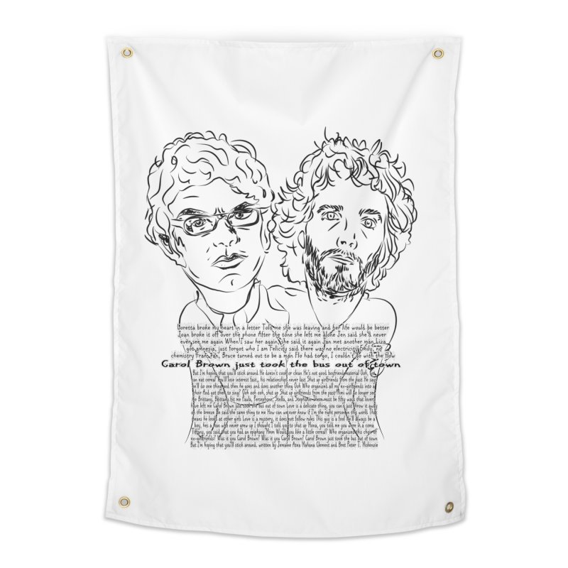 Carol Brown Lyrics, Flight of the conchords Home Tapestry by Loganferret's Artist Shop