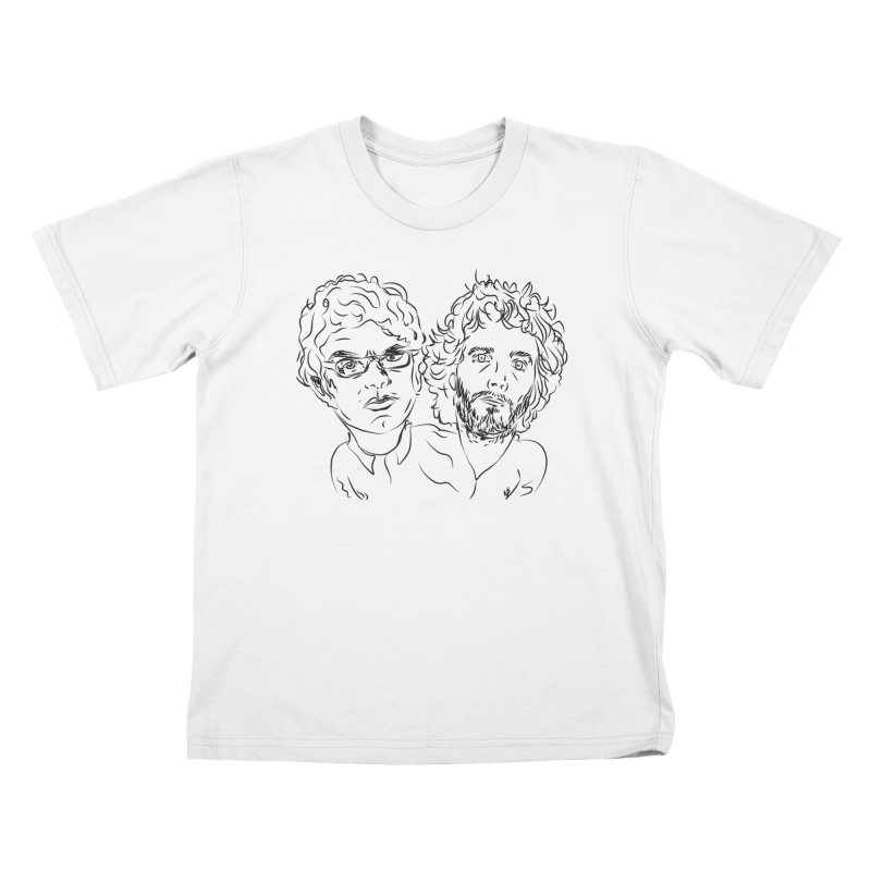 Bret Jermaine Flight of the Conchords Kids T-Shirt by Loganferret's Artist Shop