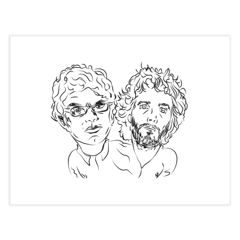 Bret Jermaine Flight of the Conchords Home Fine Art Print by Loganferret's Artist Shop